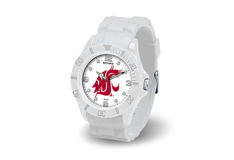 WSU Cougars Ladies White Jeweled Watch