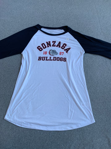 Womens Gonzaga Bulldogs white shirt