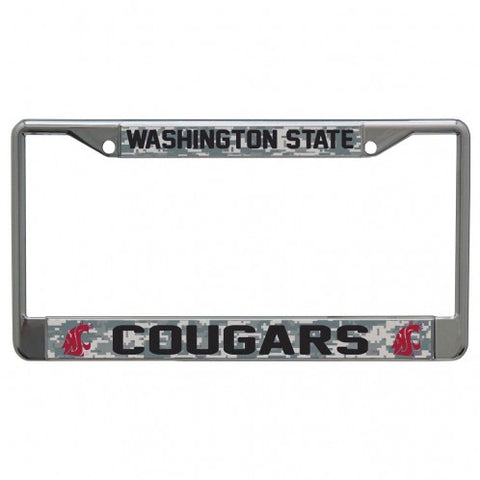 Camo Washington State Cougars License Plate Frame