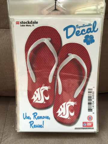 WSU Coug Flip Flop Decal