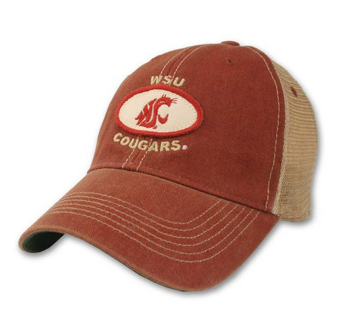 Faded Crimson WSU Cougars Legacy Hat