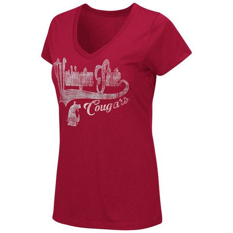 Ladies Washington State V-Neck Short Sleeve T-shirt