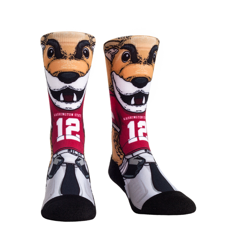 "Crimson & Grey Butch ""12"" Rockem Crew Socks"