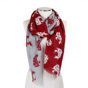 WSU Crimson and Grey Wrap Scarf