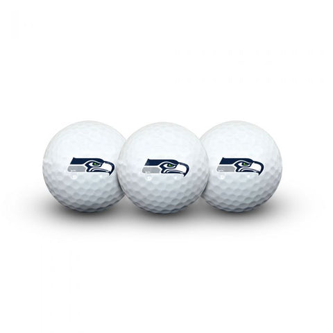 SEATTLE SEAHAWKS 3 GOLF BALLS IN CLAMSHELL
