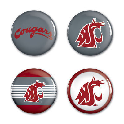 WSU Cougars Set of 4 Pins