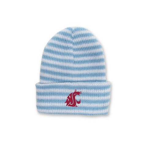 Blue and White Infant WSU Beanie