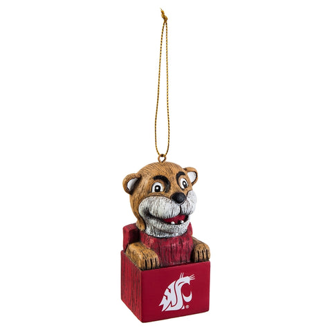 WSU Cougar Mascot Ornament