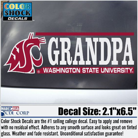 WSU Grandpa Coug Decal