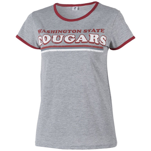 Ladies Washington State Cougars Grey Vintage Shirt