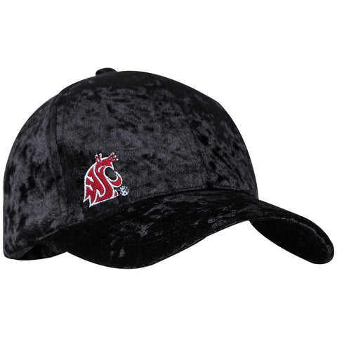 Black Crushed Velvet Ball Cap