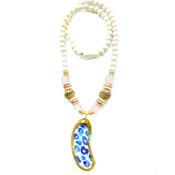 Printed Oyster Necklace