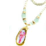 Printed Oyster Shell Necklace