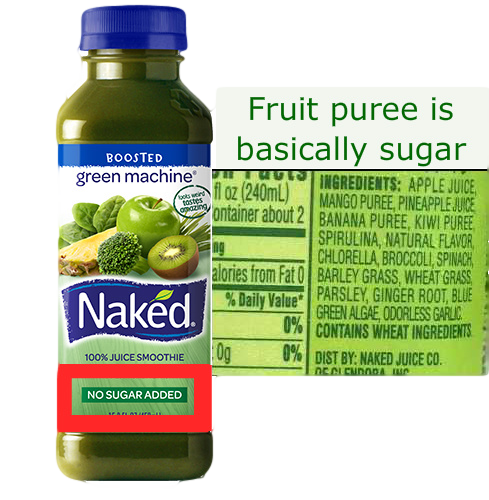 no sugar added is a lie