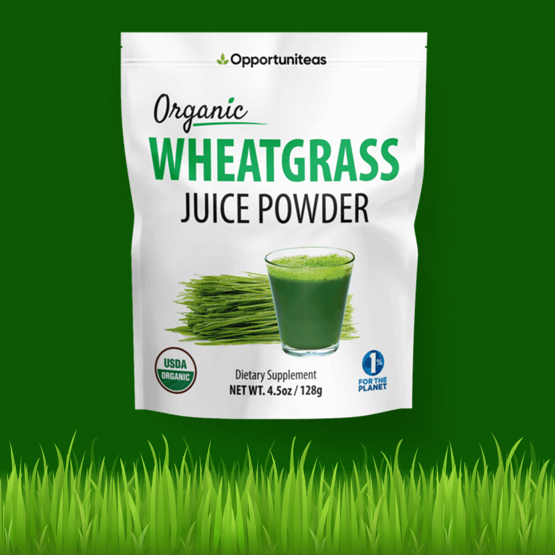 Opportuniteas wheatgrass juice powder