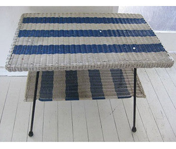 Blue and White Coffee Table