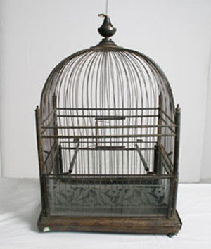 Wire and Wood Birdcage