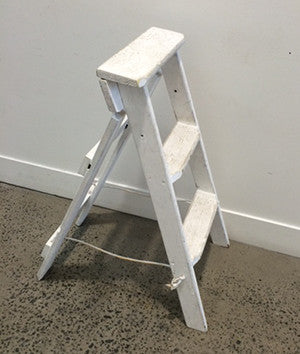White Step Ladder