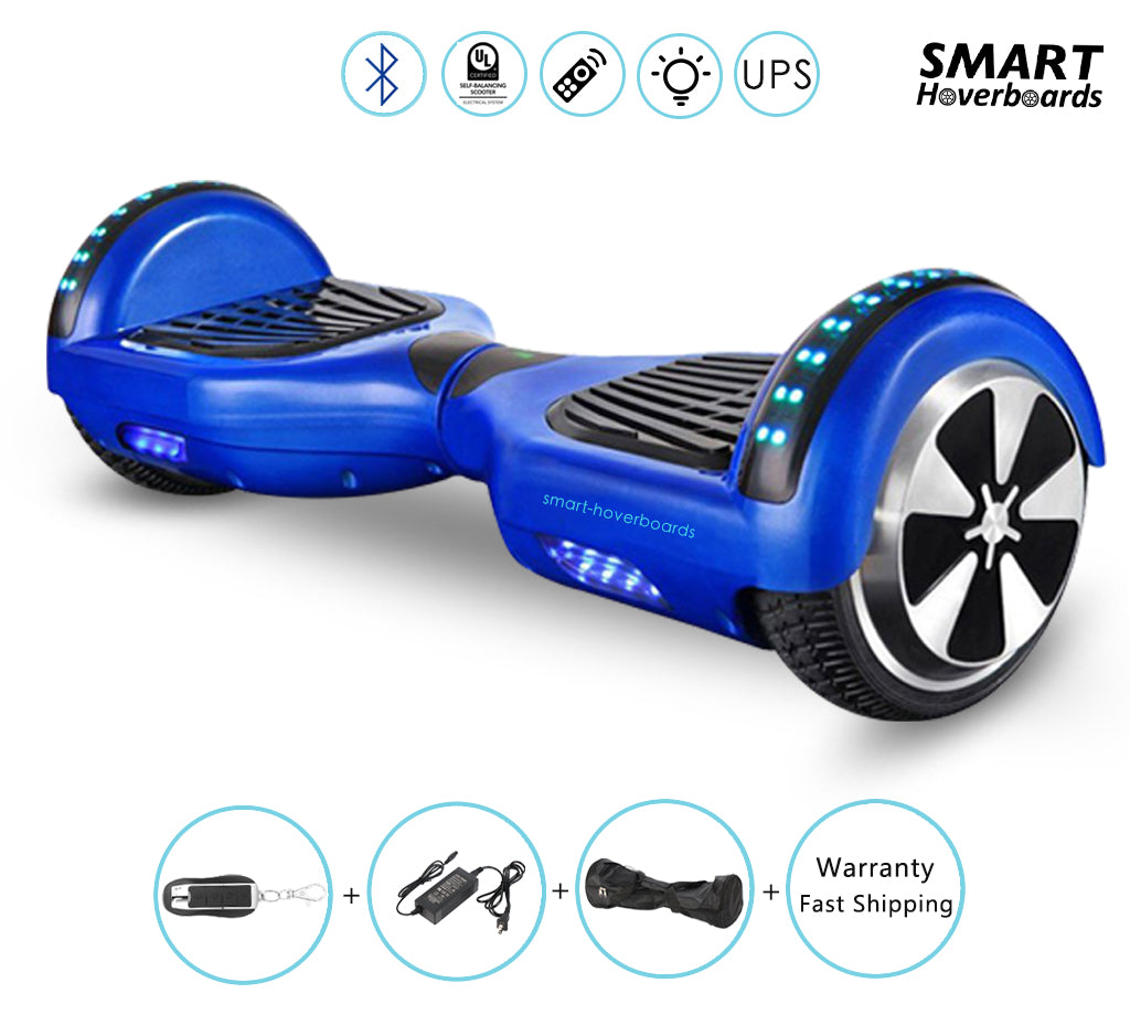 Buy White Color Hoverboard With Bluetooth And Lights For Kids Smart Hoverboards