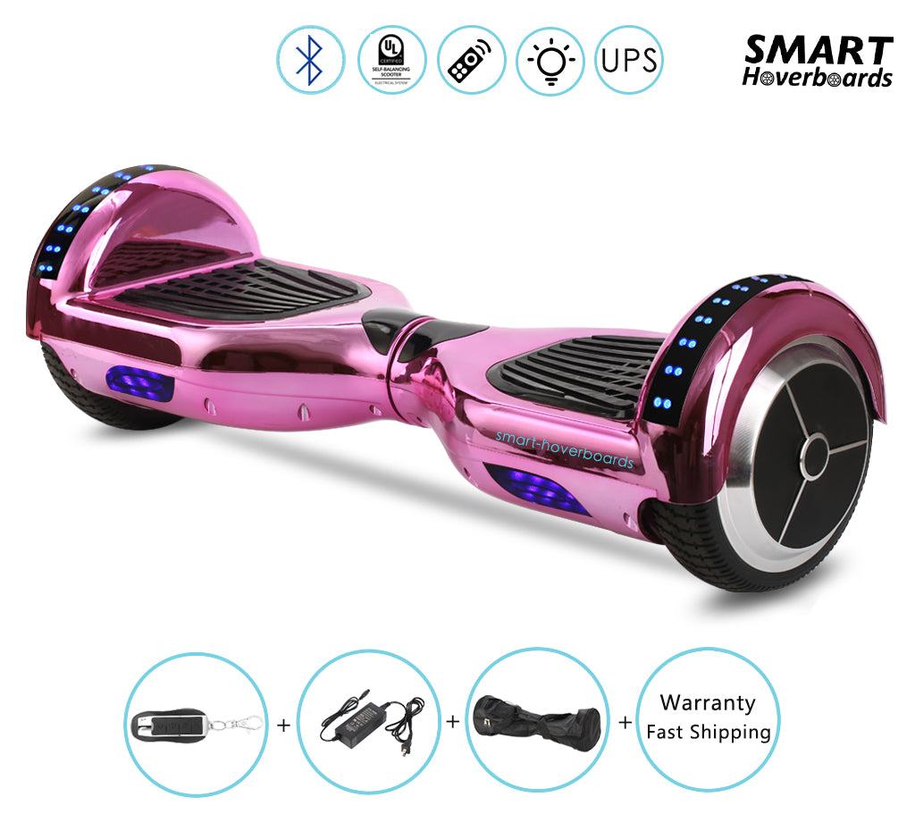 chrome bluetooth hoverboard with led lights on the top of. Black Bedroom Furniture Sets. Home Design Ideas