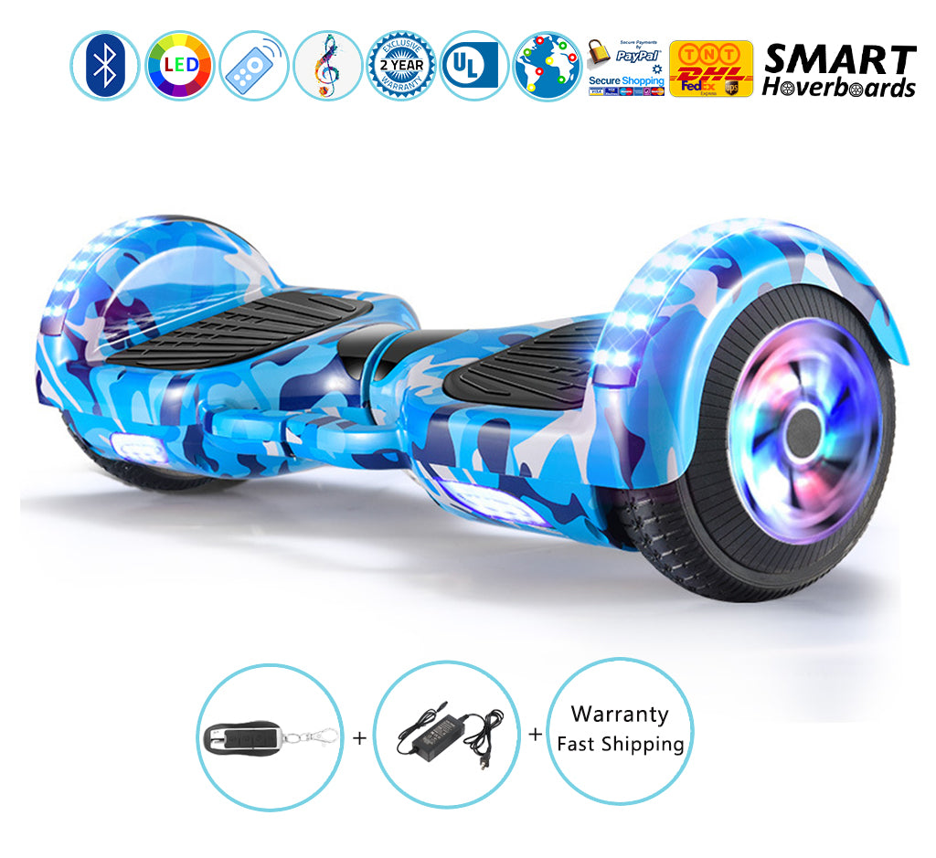 Multi Color 6 5 Inch Hoverboard With Bluetooth Speakers And Lights Smart Hoverboards