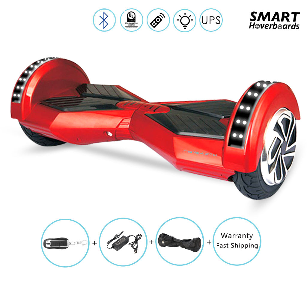 Lambor Red Hoverboard Self Balancing Scooter With Bluetooth Smart