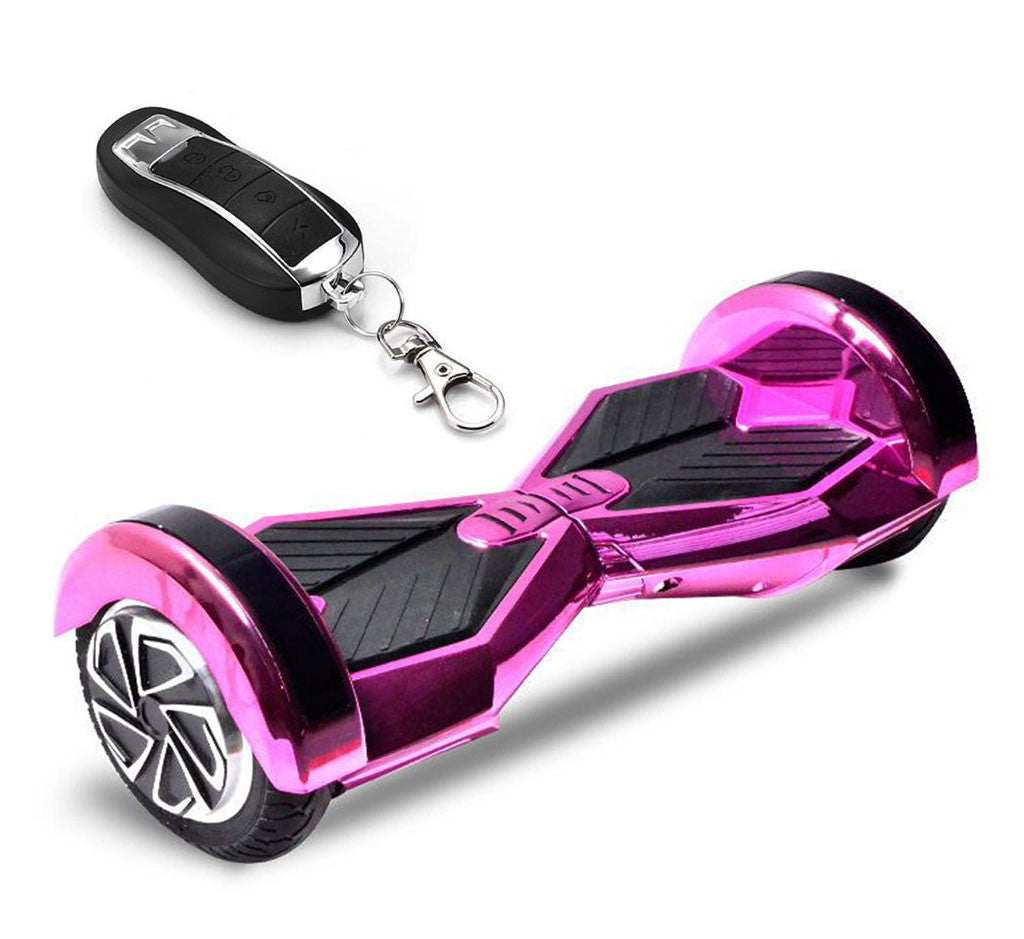 8 lambo chrome pink hoverboard with remote bluetooth. Black Bedroom Furniture Sets. Home Design Ideas