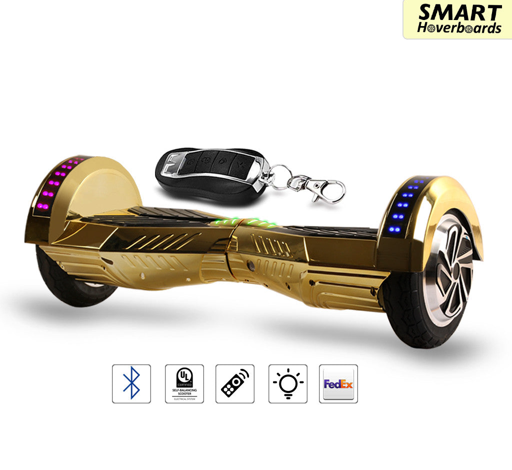 2017 Chrome Bluetooth Led Hoverboard With Led Lights In The Wheels Smart Hoverboards