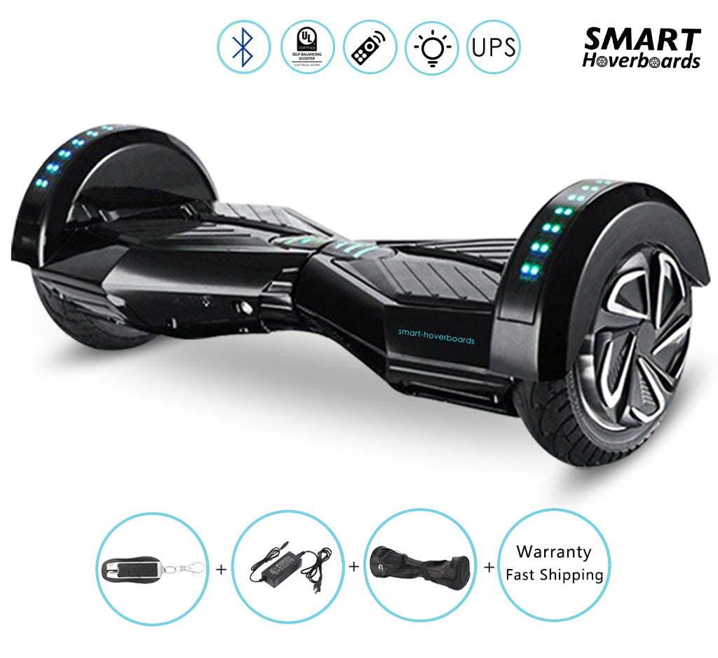Black hoverboard with bluetooth
