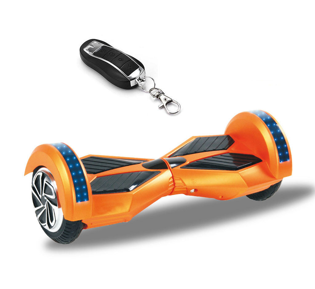 Chrome Bluetooth Hoverboard With Led Lights On The Top Of The Wheels Smart Hoverboards