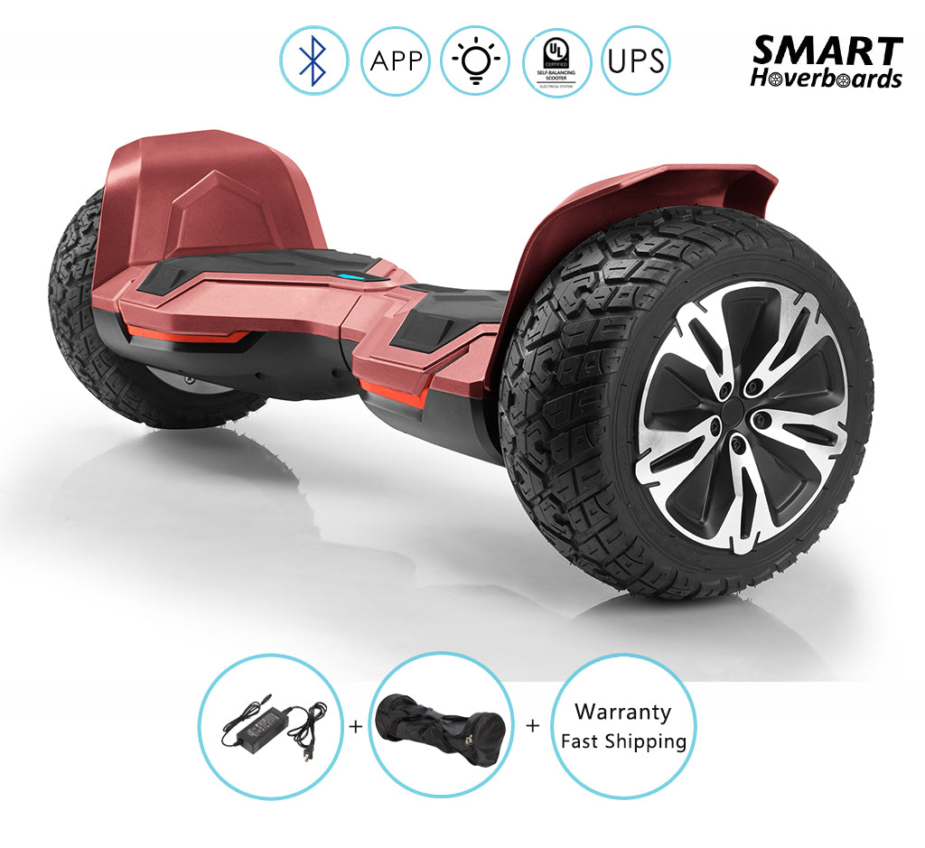 Off Road Warrior Hoverboard Electric Scooter With Bluetooth Lights And App Smart Hoverboards