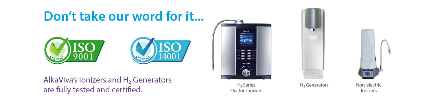 Alkaline Water Ioniser Certifications