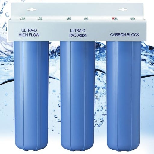 AlkaViva Trident 3-Stage Whole House Filter Optimum Fluoride