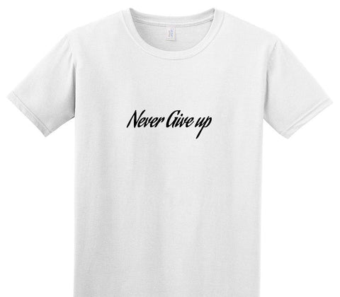 Custom Adult Soft Style 100% Cotton White T-Shirt
