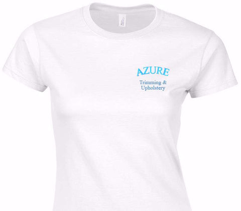 Custom Womens Soft Style 100% Cotton White T-Shirt
