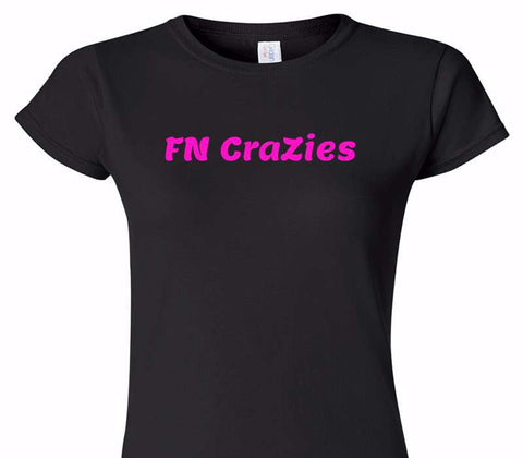 Custom Womens Soft Style 100% Cotton Black T-Shirt