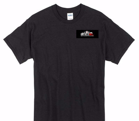 Custom Gildan 100% Cotton Black T-Shirt
