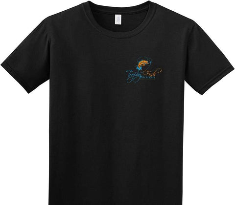Custom Adult Soft Style 100% Cotton Black T-Shirt