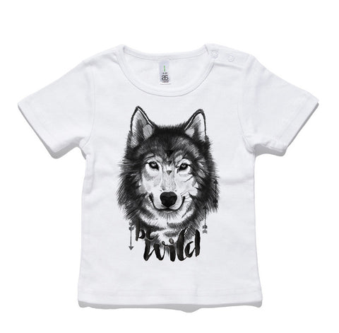 Be Wild Wolf 100% Cotton Baby T-Shirt