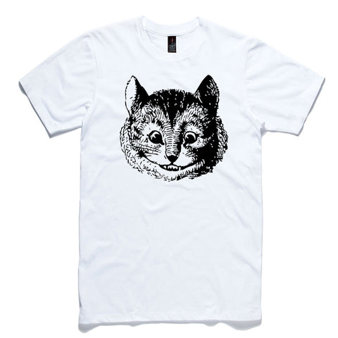 Cheshire Cat White 100% Cotton T-Shirt