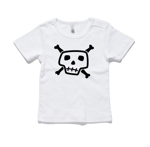 Skull and Cross Bones 100% Cotton Baby T-Shirt
