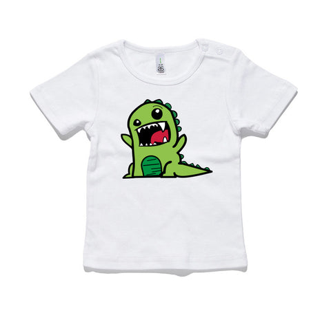 Green Dinosaur 100% Cotton Baby T-Shirt