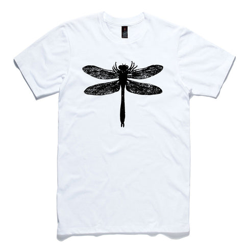 Dragonfly White 100% Cotton T-Shirt