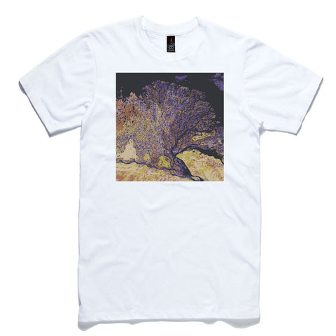 Earth Art From Space White 100% Cotton T-Shirt