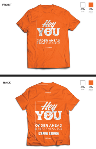 24 x T-Shirts Front & Back - HeyYou - Jun17