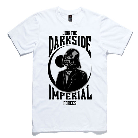 Join The Darkside White 100% Cotton T-Shirt