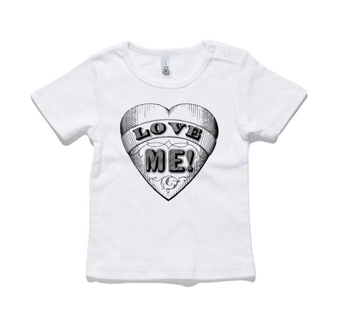 Love Me Heart 100% Cotton Baby T-Shirt