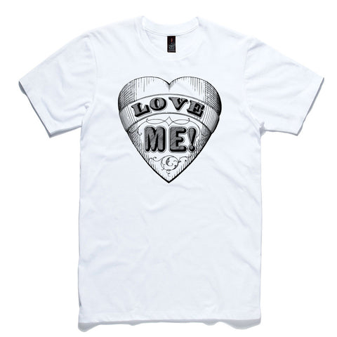 Love Me Heart White 100% Cotton T-Shirt