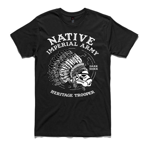 Native Stormtrooper Black 100% Cotton T-Shirt