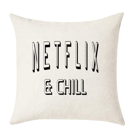 Netflix and Chill Cushion Cover